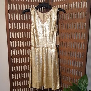 Gold Copper Key Dress
